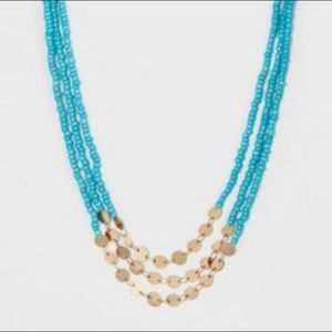 Sugarfix by Baublebar bead necklace Blue Gold